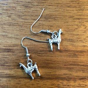 Jewelry - Silver tone Llama Earrings fish hook new